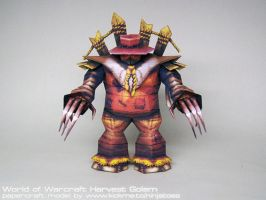 Papercraft World of Warcraft Harvest Golem rotate by ninjatoespapercraft
