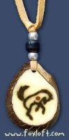 Dancing Wolf Totem Pendant by totemjewelry