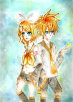Kagamine twins: Omedetou by ArisuCandy12