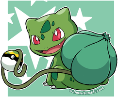 Pokemon Day: Shiny Bulbasaur by Volmise