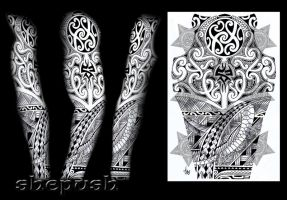 Tribal sleeve design by shepush