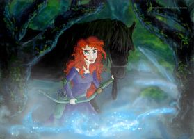 Brave - merida sets out by DottyDrama