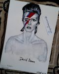 David Bowie- Painting by AndreeaCJ