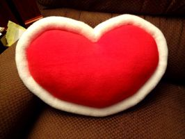 Legend of Zelda Heart Container Plush Pillow by Jacqueline-Victoria