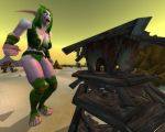 Angry Nightelf Giantess by Shrinkspell