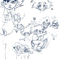DBZ Sketches by Devain