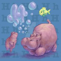 Hippo by dinowalker