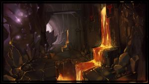 dwarven city_ entrance by Krivio