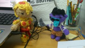LoL - Crochet Leona and Mundo by Ayinai