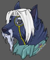 Silver Wolf headshot by AxelWolf04