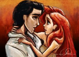 Ariel and Eric by ChristyTortland