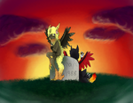 Halloween 2014 Fan Art Contest - Morning After by AliceTheHunted