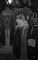 twd: Daryl and Michonne by psychomindset