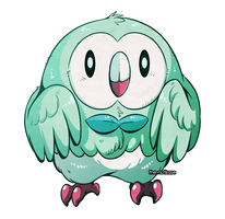 Shiny Rowlet by The-Nutkase