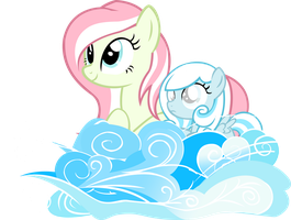 Snowdrop and Primrose on Cloud (Day Version) by lelekHD