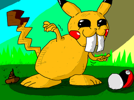 If Pikachu was real... by Paintenderp