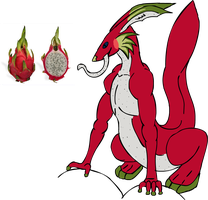 Salamander rabbit dragon fruit by PaperFail