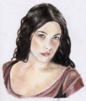Arwen Color Portrait by ElvesAteMyRamen