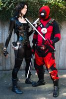 Domino and Deadpool at Sakura-Con 2013 by DPForPrez