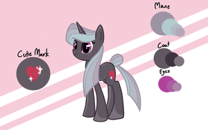 Glitter Glitz - MLP OC (with ref) by Ilovepones