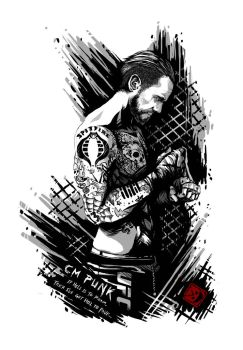 CM Punk: If Hell is to Roam, I've got Hell to Pave by sXeven