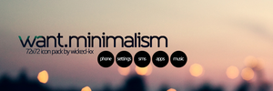 want.minimalism +icons pack! by wicked-kx
