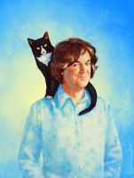 A Man And His Cat by luluha