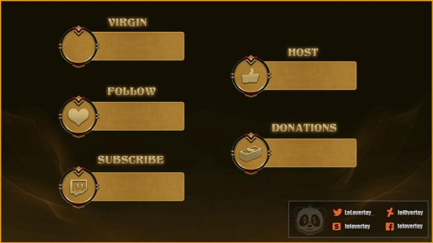 [FREE] Gold - Twitch Alerts by lol0verlay