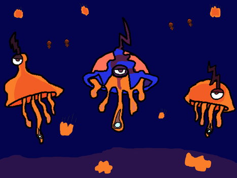Flying morhpoids (old drawing) by zombienateisback