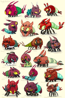 Venipede Variations by Jinxee
