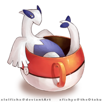 Lugia in a cup by xlolfishx