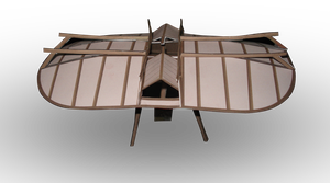 Swedenborg Flying Machine Paper Model by RocketmanTan