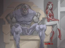 Darkseid and Gilotina by AZNbebop