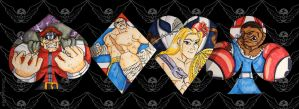 Four heavenly kings by Shadaloo1989
