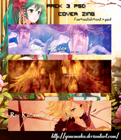 Pack 3 PSD cover zing by Yonemaka