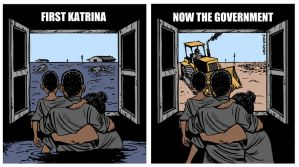 First Katrina, now the Govt by Latuff2