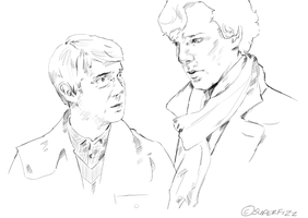 John and Sherlock - Commission by superfizz