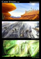 Environment Speed Paints by Reganov