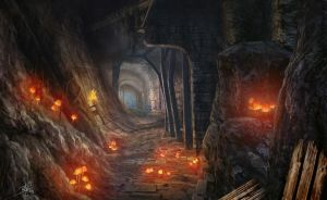 Dungeon Passage by d3fect