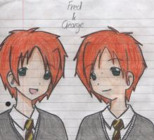 Fred and George by 8yeeg
