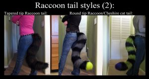 Raccoon Tail Styles by SPPlushies