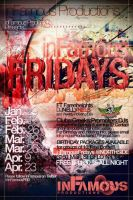 inFamous Fridays Events Flyer by V1sualPoetry