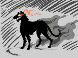 A Barghest by PineappleSodaCat