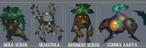 Zelda OoT monsters 1 by MaxGrecke