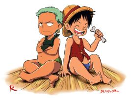One Piece - Luffi and Zoro by redisoj
