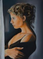 Waiting - Pastels by 6re9
