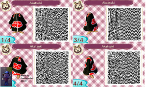 Akatsuki outfit animal crossing by GoofyGoober1012