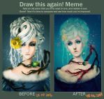 Before and After - Snow queen by LoranDeSore