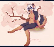 Under the cherryblossom by Dyaniart