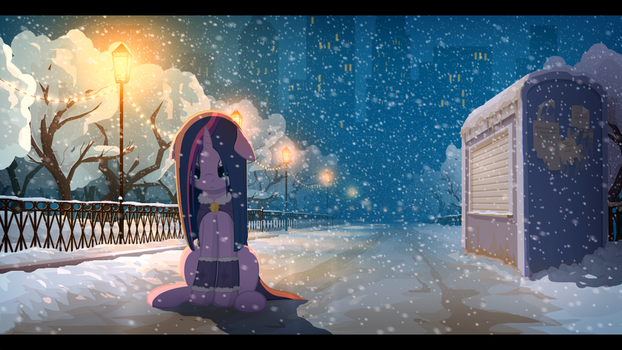 Winter evening by gign-3208